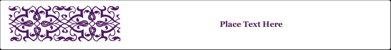 """9¾"""" x 1¼"""" Wraparound Label - Purple Swirls Pattern"""