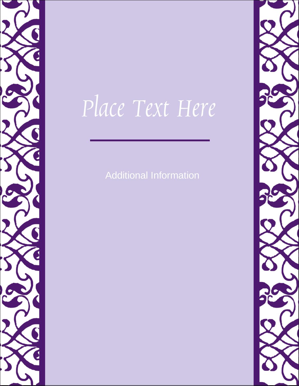 "5½"" x 4¼"" Postcard - Purple Swirls Pattern"
