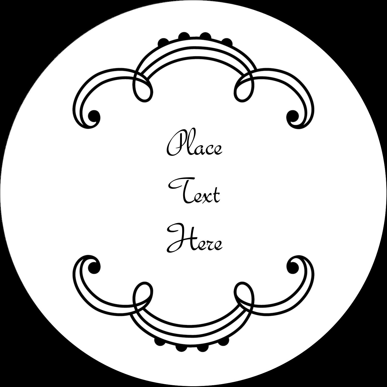 """3"""" Round Label - Martha Stewart's Whimsical Wedding"""