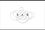 Monogramme de mariage Cartes de souhaits pliées en deux - gabarit prédéfini. <br/>Utilisez notre logiciel Avery Design & Print Online pour personnaliser facilement la conception.