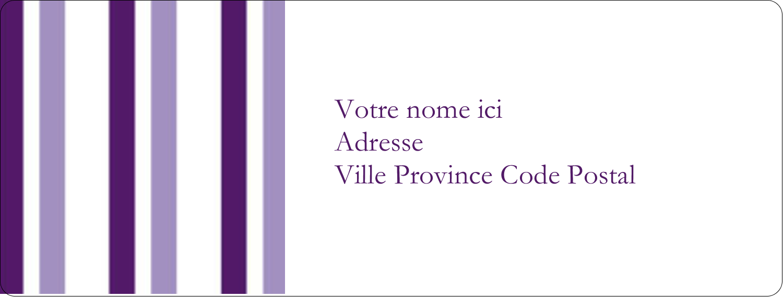 Rayures violettes Étiquettes d'adresse - gabarit prédéfini. <br/>Utilisez notre logiciel Avery Design & Print Online pour personnaliser facilement la conception.