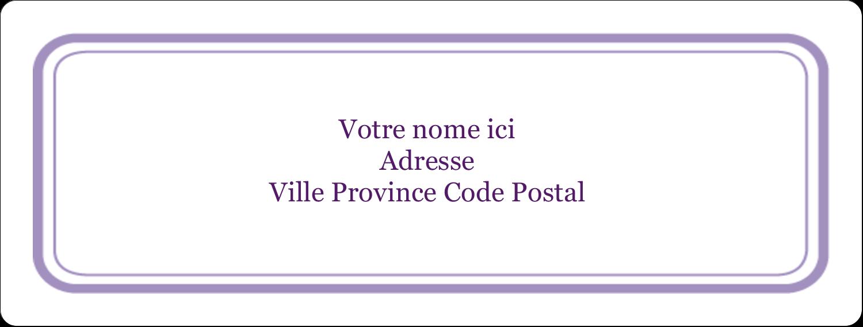 """1"""" x 4"""" Étiquettes d'adresse - Motif de tourbillons violets"""