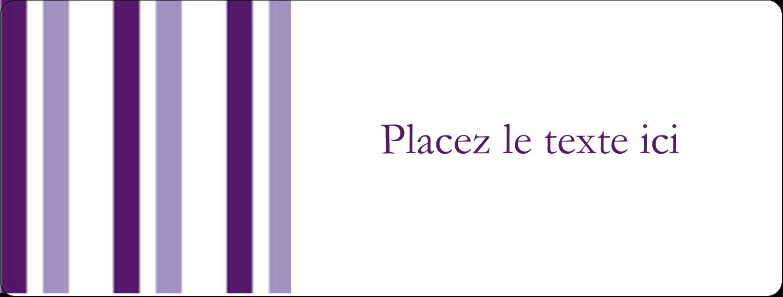 Rayures violettes Étiquettes Voyantes - gabarit prédéfini. <br/>Utilisez notre logiciel Avery Design & Print Online pour personnaliser facilement la conception.