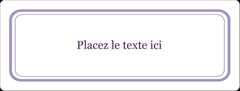 """2⅝"""" x 1"""" Étiquettes Voyantes - Motif de tourbillons violets"""