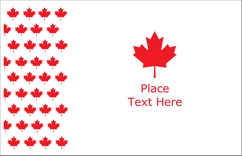 """5½"""" x 8½"""" Greeting Card - Maple Leaf Motif"""