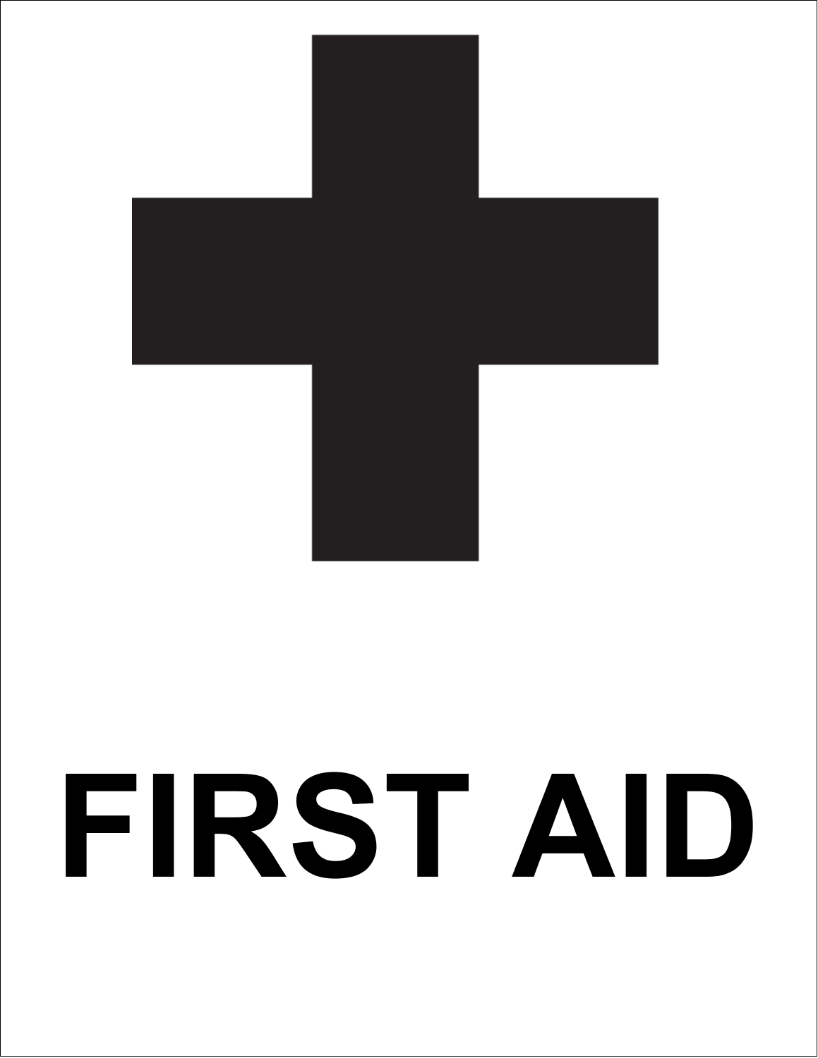 Create first aid signs for the workplace with pre-designed Signs First Aid templates.