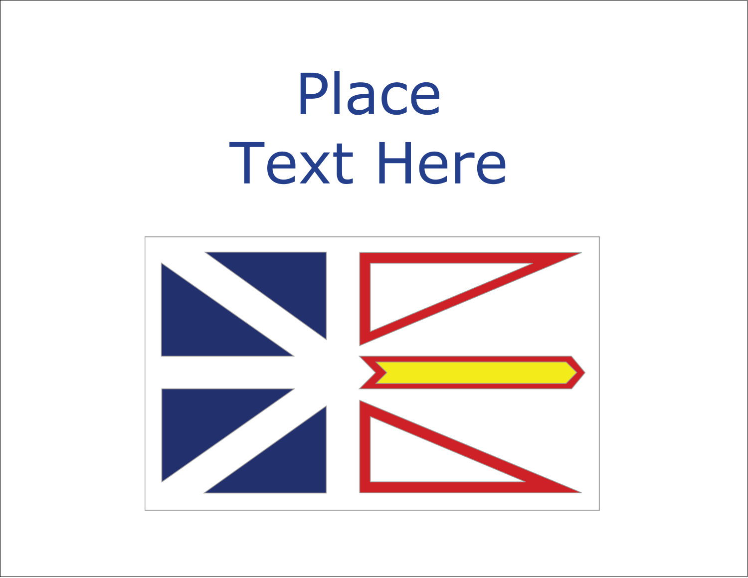 "5½"" x 4¼"" Note Card - Newfoundland and Labrador Flag"