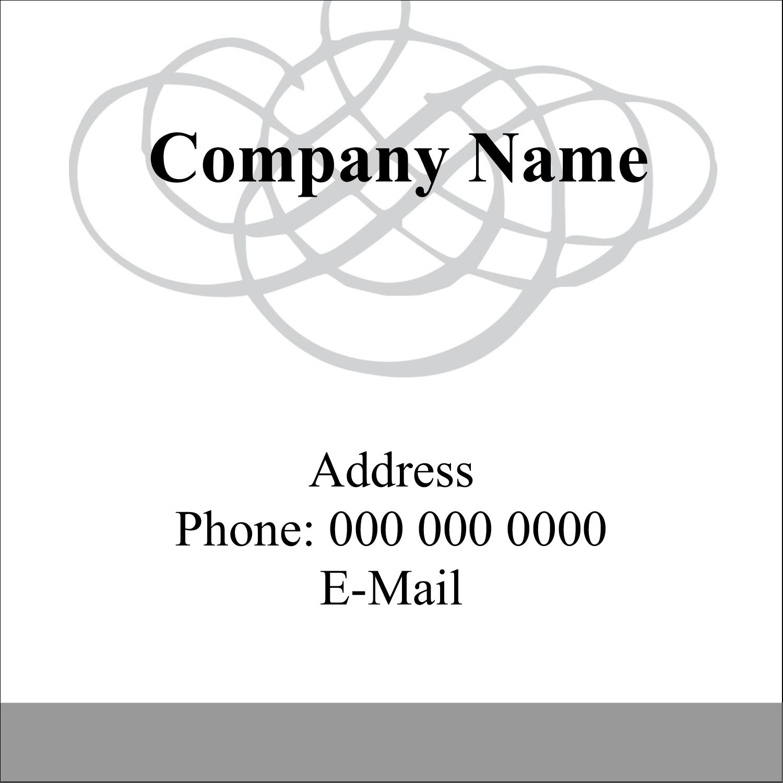 "1½"" x 1½"" Square Label - Wedding Monogram"