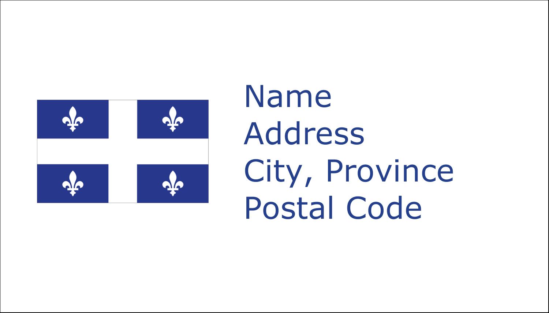 "2"" x 3½"" Business Card - Quebec Flag"