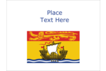 Celebrate New Brunswick by decorating all your creative projects with the New Brunswick Flag.
