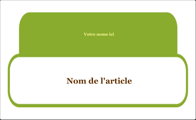"""8½"""" x 11"""" Étiquettes D'Identification - Rangement du poste de travail"""