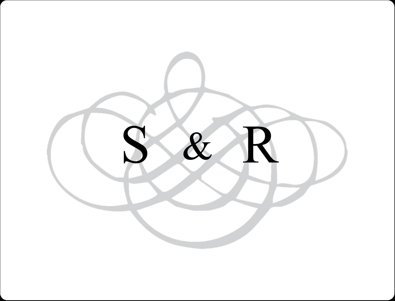 Monogramme de mariage Étiquettes D'Identification - gabarit prédéfini. <br/>Utilisez notre logiciel Avery Design & Print Online pour personnaliser facilement la conception.