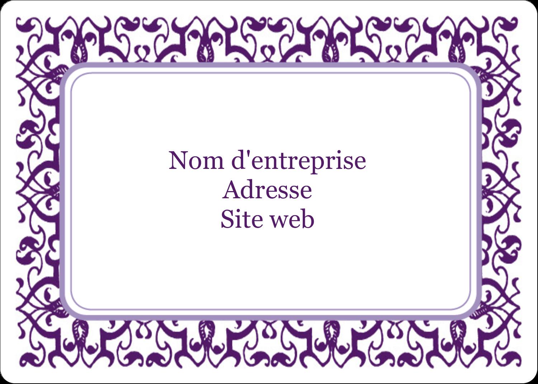 """2⅝"""" x 2"""" Étiquettes D'Identification - Motif de tourbillons violets"""