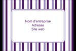 Rayures violettes Étiquettes D'Identification - gabarit prédéfini. <br/>Utilisez notre logiciel Avery Design & Print Online pour personnaliser facilement la conception.