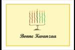 Kinara de Kwanzaa Étiquettes à codage couleur - gabarit prédéfini. <br/>Utilisez notre logiciel Avery Design & Print Online pour personnaliser facilement la conception.