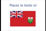 Drapeau de l'Ontario  Badges - gabarit prédéfini. <br/>Utilisez notre logiciel Avery Design & Print Online pour personnaliser facilement la conception.
