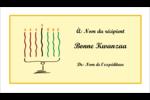 Kinara de Kwanzaa Carte d'affaire - gabarit prédéfini. <br/>Utilisez notre logiciel Avery Design & Print Online pour personnaliser facilement la conception.