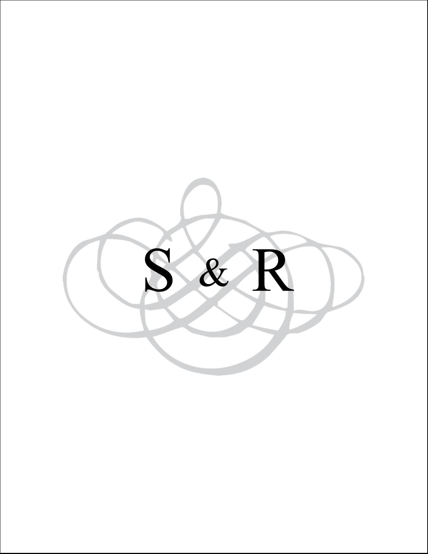 """4¼"""" x 5½"""" Cartes de notes - Monogramme de mariage"""