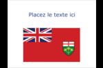 Drapeau de l'Ontario  Cartes de notes - gabarit prédéfini. <br/>Utilisez notre logiciel Avery Design & Print Online pour personnaliser facilement la conception.