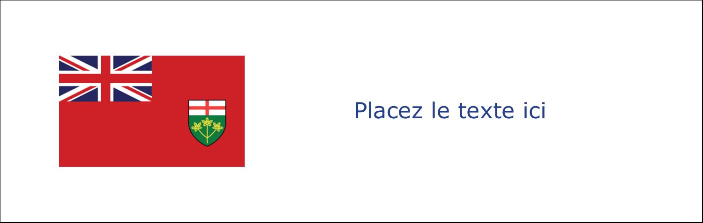 """3½"""" x 11"""" Affichette - Drapeau de l'Ontario"""