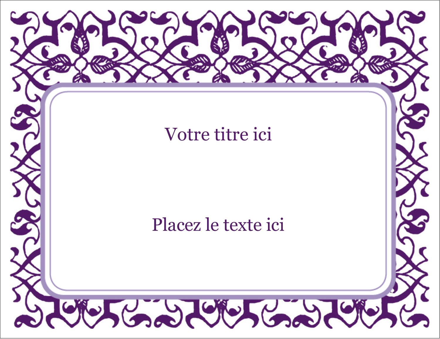 Motif de tourbillons violets Étiquettes D'Identification - gabarit prédéfini. <br/>Utilisez notre logiciel Avery Design & Print Online pour personnaliser facilement la conception.