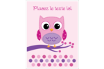 Chouette rose Cartes Et Articles D'Artisanat Imprimables - gabarit prédéfini. <br/>Utilisez notre logiciel Avery Design & Print Online pour personnaliser facilement la conception.