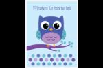 Chouette bleue Cartes Et Articles D'Artisanat Imprimables - gabarit prédéfini. <br/>Utilisez notre logiciel Avery Design & Print Online pour personnaliser facilement la conception.