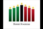 Bougies à étoile de Kwanzaa Cartes Et Articles D'Artisanat Imprimables - gabarit prédéfini. <br/>Utilisez notre logiciel Avery Design & Print Online pour personnaliser facilement la conception.