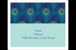 Paon Étiquettes D'Adresse - gabarit prédéfini. <br/>Utilisez notre logiciel Avery Design & Print Online pour personnaliser facilement la conception.