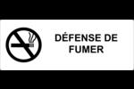 Gabarits Défense de fumer Étiquettes Voyantes - gabarit prédéfini. <br/>Utilisez notre logiciel Avery Design & Print Online pour personnaliser facilement la conception.