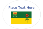 Celebrate the  land of living skies by adorning projects with the provincial flag of Saskatchewan