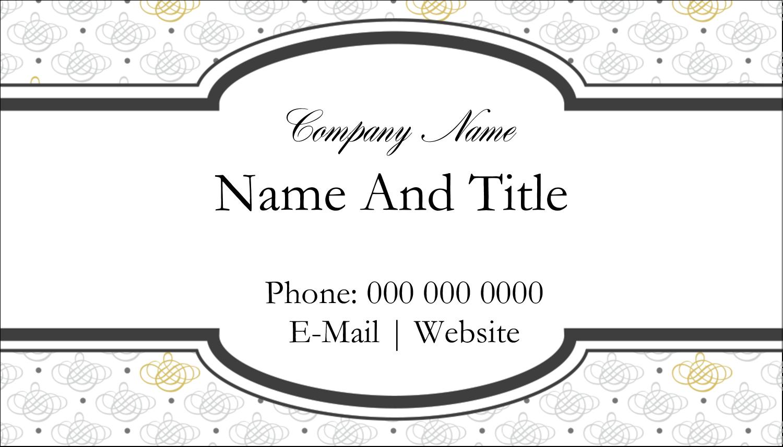 "2"" x 3½"" Business Card - Wedding Monogram"