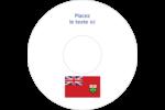 Drapeau de l'Ontario  Étiquettes Pour Médias - gabarit prédéfini. <br/>Utilisez notre logiciel Avery Design & Print Online pour personnaliser facilement la conception.