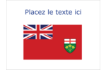 Drapeau de l'Ontario  Étiquettes badges autocollants - gabarit prédéfini. <br/>Utilisez notre logiciel Avery Design & Print Online pour personnaliser facilement la conception.