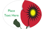 Adorn Remembrance Day projects with the iconic symbol of a simple red poppy.