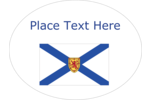 Adorn creative projects with Canada's ocean playground  flag of Nova Scotia.