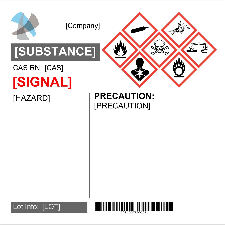 "4"" x 4"" Industrial Label - GHS Wizard"