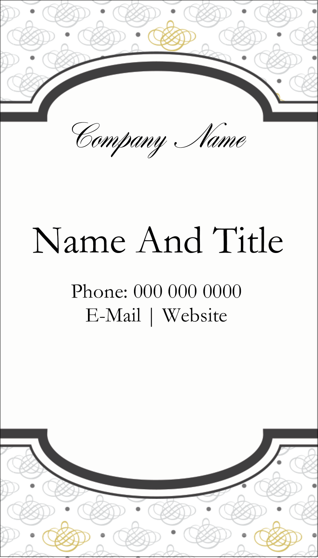 "3½"" x 2"" Business Card - Wedding Monogram"