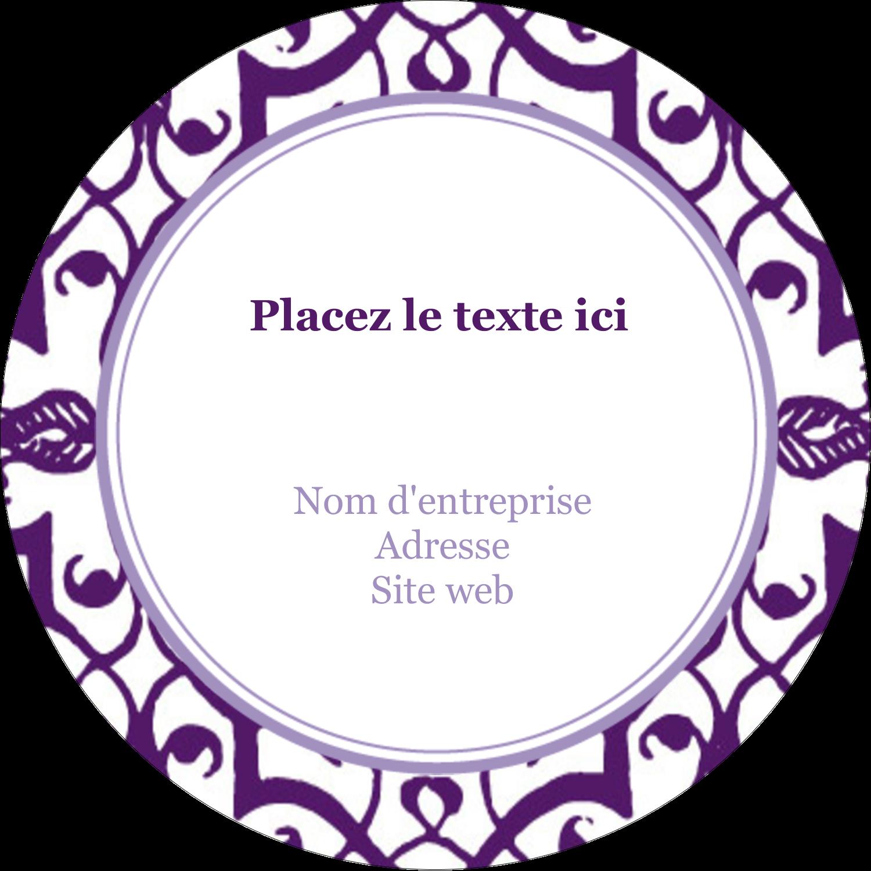 """3-7/16"""" x 15/16"""" Étiquettes de classement - Motif de tourbillons violets"""