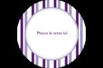 Rayures violettes Étiquettes de classement - gabarit prédéfini. <br/>Utilisez notre logiciel Avery Design & Print Online pour personnaliser facilement la conception.
