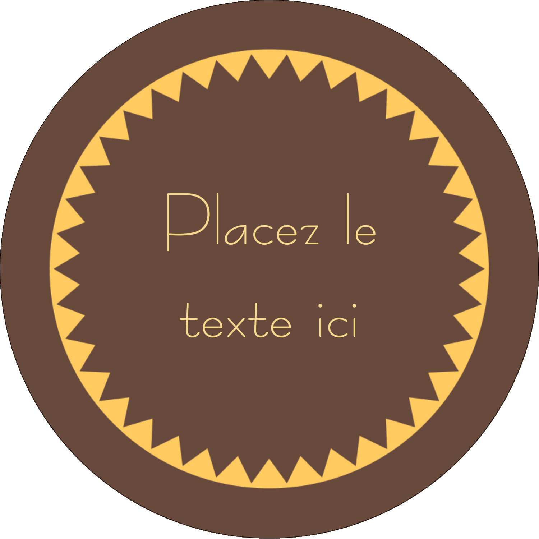 """3"""" x 2¼"""" Étiquettes arrondies - Beurre d'arachide de Pauline"""