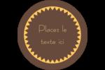 Beurre d'arachide de Pauline Étiquettes arrondies - gabarit prédéfini. <br/>Utilisez notre logiciel Avery Design & Print Online pour personnaliser facilement la conception.