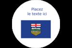 Drapeau de l'Alberta Étiquettes arrondies - gabarit prédéfini. <br/>Utilisez notre logiciel Avery Design & Print Online pour personnaliser facilement la conception.