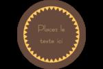 Beurre d'arachide de Pauline Étiquettes rondes - gabarit prédéfini. <br/>Utilisez notre logiciel Avery Design & Print Online pour personnaliser facilement la conception.