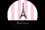 Style parisien Étiquettes rondes - gabarit prédéfini. <br/>Utilisez notre logiciel Avery Design & Print Online pour personnaliser facilement la conception.