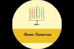 Kinara de Kwanzaa Étiquettes rondes - gabarit prédéfini. <br/>Utilisez notre logiciel Avery Design & Print Online pour personnaliser facilement la conception.