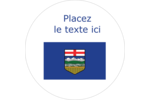 Drapeau de l'Alberta Étiquettes rondes - gabarit prédéfini. <br/>Utilisez notre logiciel Avery Design & Print Online pour personnaliser facilement la conception.