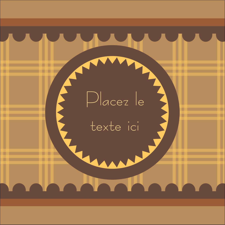 """9¾"""" x 1¼"""" Étiquettes enveloppantes - Beurre d'arachide de Pauline"""