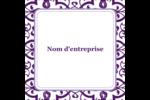 Motif de tourbillons violets Étiquettes rondes - gabarit prédéfini. <br/>Utilisez notre logiciel Avery Design & Print Online pour personnaliser facilement la conception.