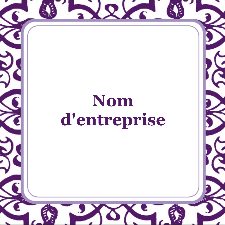 """1½"""" x 1½"""" Étiquettes carrées - Motif de tourbillons violets"""